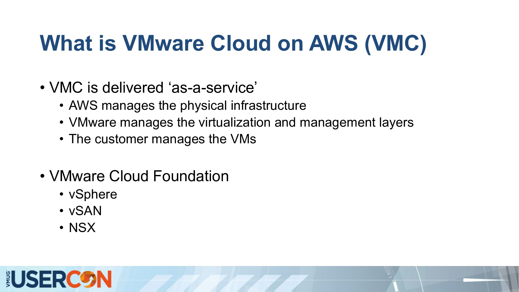 What is VMware Cloud on AWS (VMC) • VMC is deli...