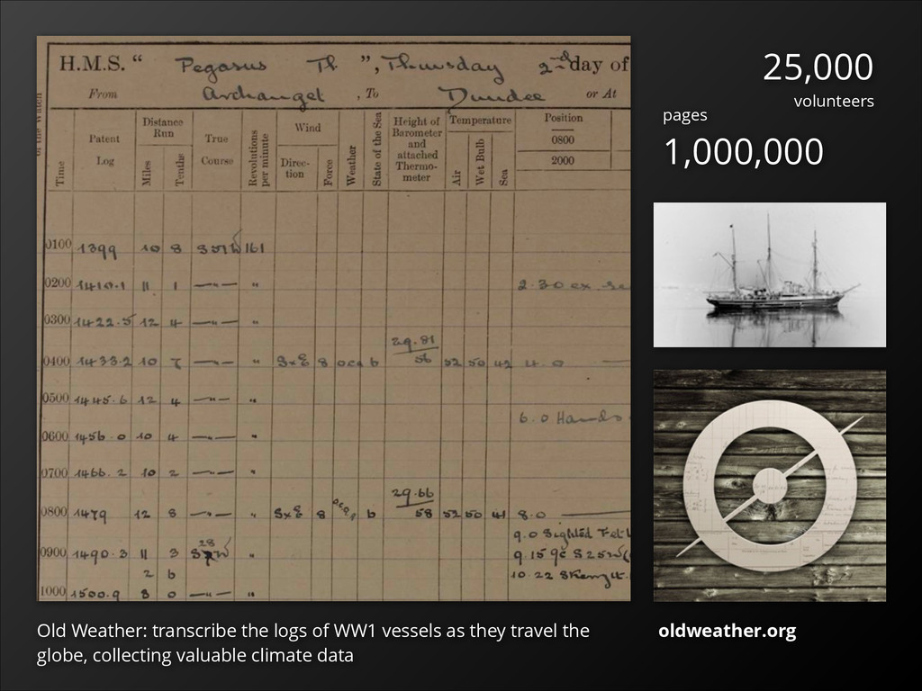 Old Weather: transcribe the logs of WW1 vessels...