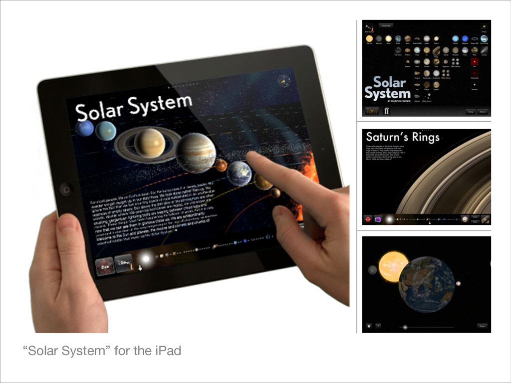 """""""Solar System"""" for the iPad"""