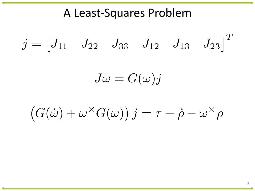 A Least-‐Squares Problem 5 J! = G(!)j G(...