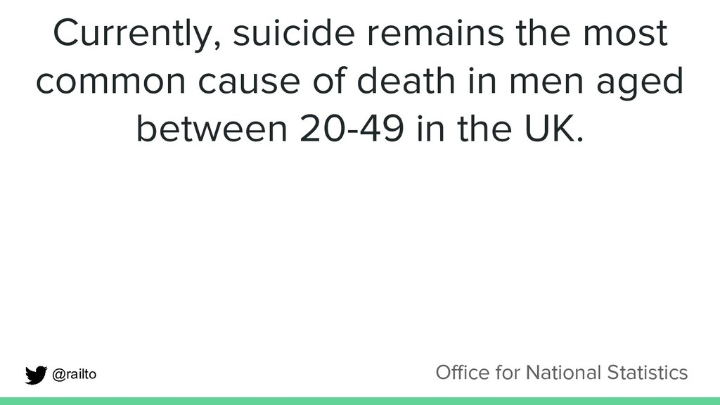 Currently, suicide remains the most common caus...