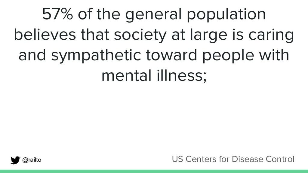 57% of the general population believes that soc...