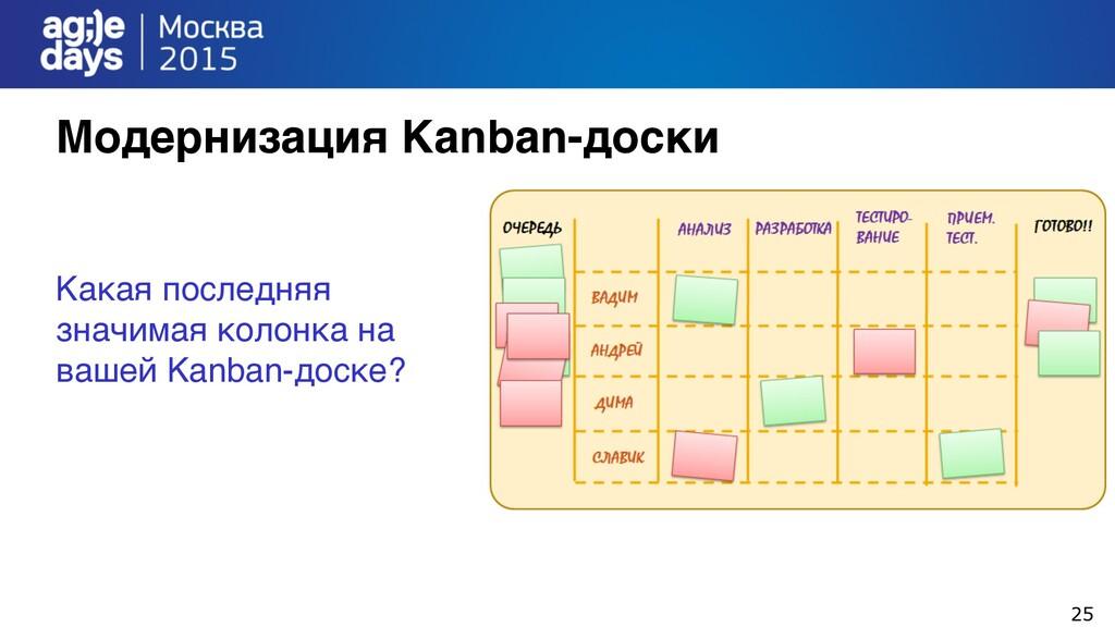 25 Модернизация Kanban-доски Какая последняя зн...