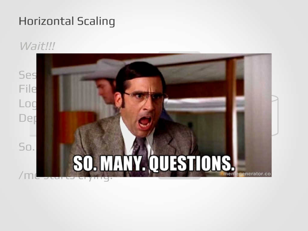 Horizontal Scaling! Wait!!!! ! Sessions?! File ...