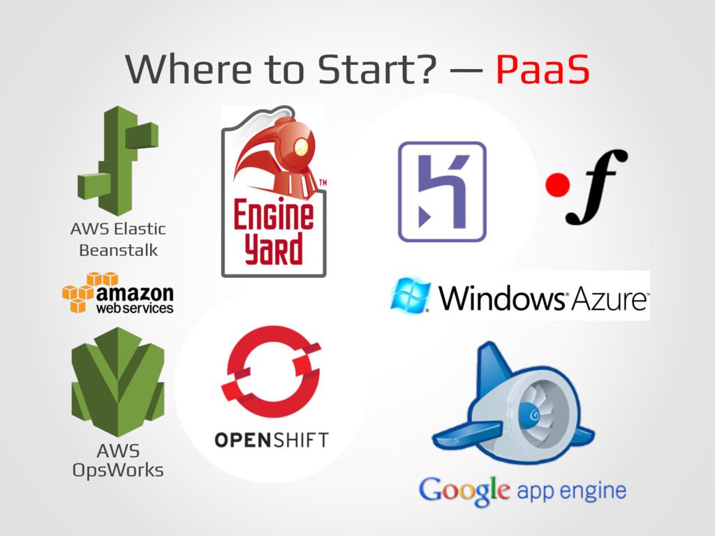 Where to Start? — PaaS! AWS Elastic! Beanstalk!...