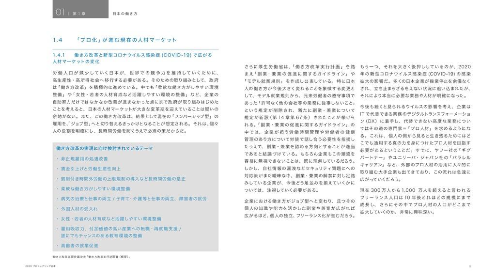 11 2020 プロシェアリング白書 労 働 人 口 が 減 少 して いく日 本 が、 世 ...