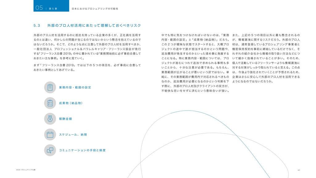 40 2020 プロシェアリング白書 5 . 3 外 部 のプ ロ 人 材 活 用 に あ た...