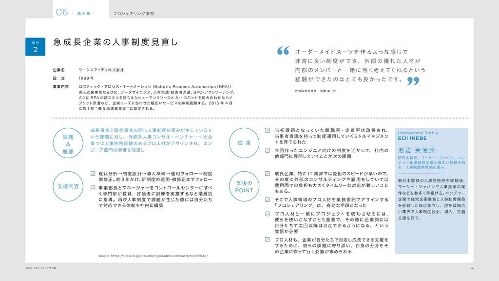 46 2020 プロシェアリング白書 プ ロシェアリング 事 例 06 | 第 6 章 事 例...