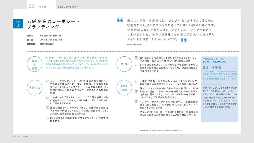 47 2020 プロシェアリング白書 プ ロシェアリング 事 例 06 | 第 6 章 事 例...