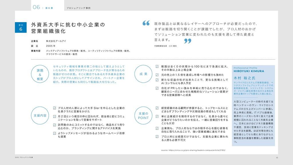 50 2020 プロシェアリング白書 プ ロシェアリング 事 例 06 | 第 6 章 事 例...