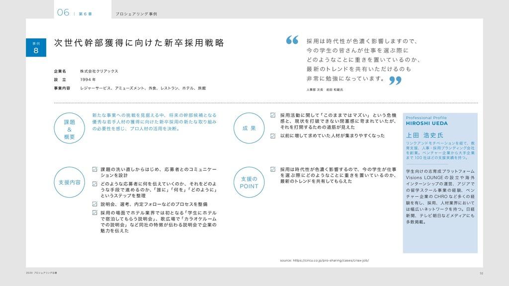 52 2020 プロシェアリング白書 プ ロシェアリング 事 例 06 | 第 6 章 事 例...