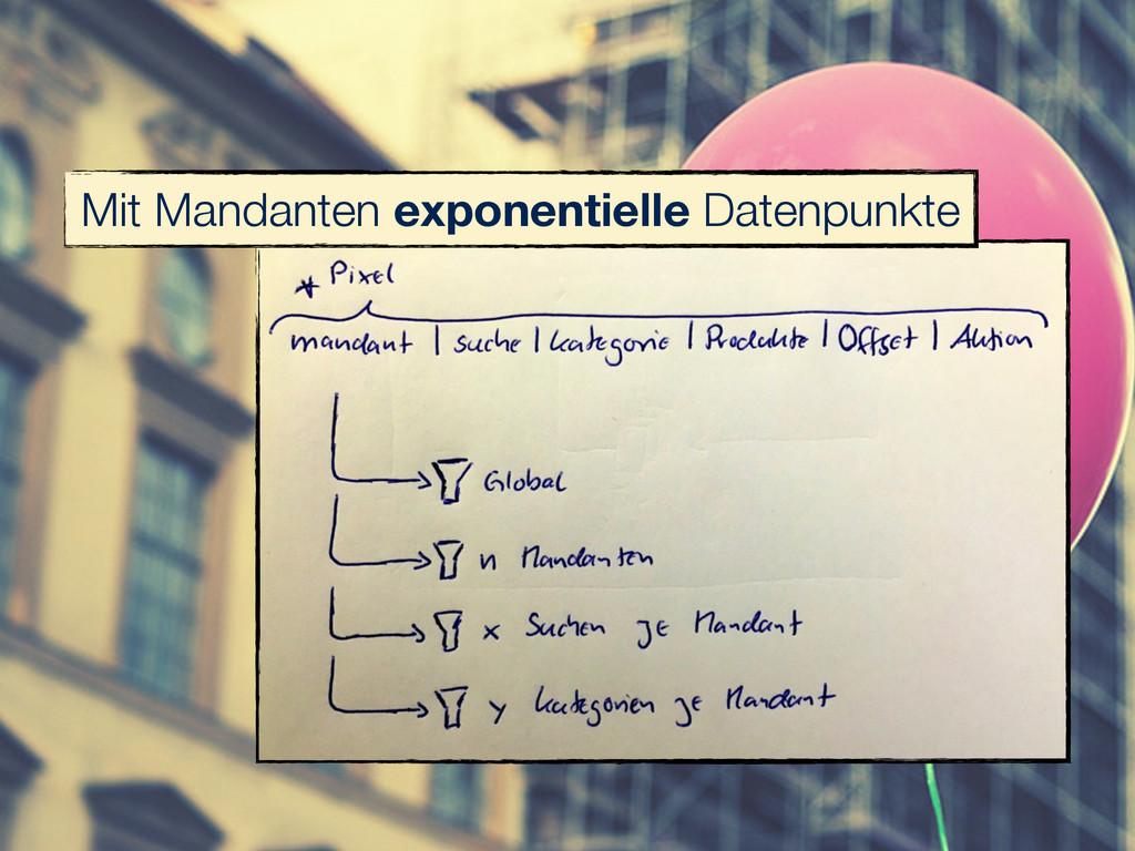 Mit Mandanten exponentielle Datenpunkte
