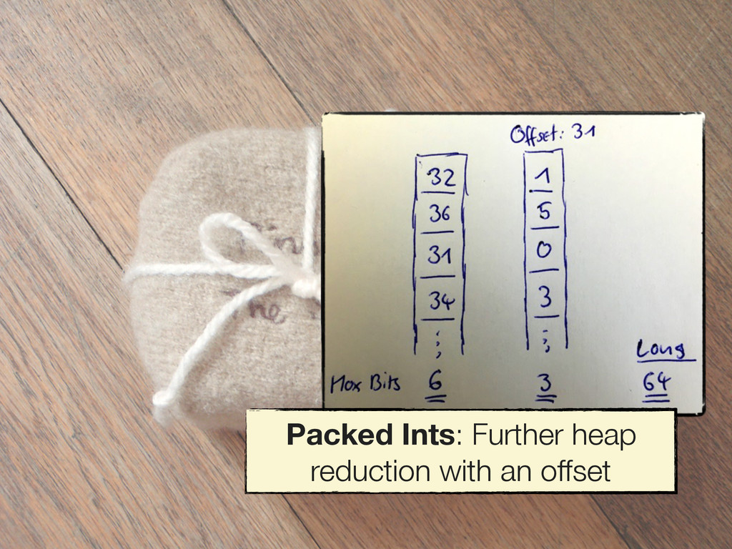 Packed Ints: Further heap reduction with an off...