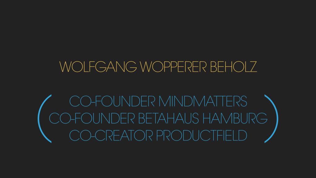 WOLFGANG WOPPERER BEHOLZ CO-FOUNDER MINDMATTERS...