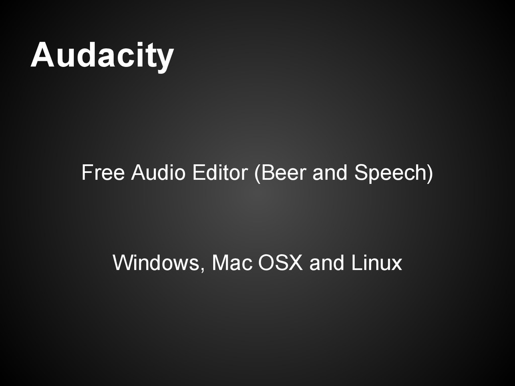 Audacity Free Audio Editor (Beer and Speech) Wi...
