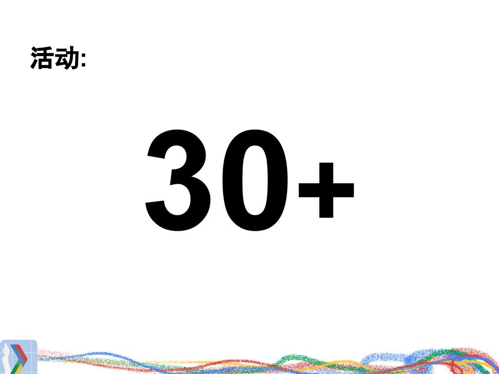 活动: 30+