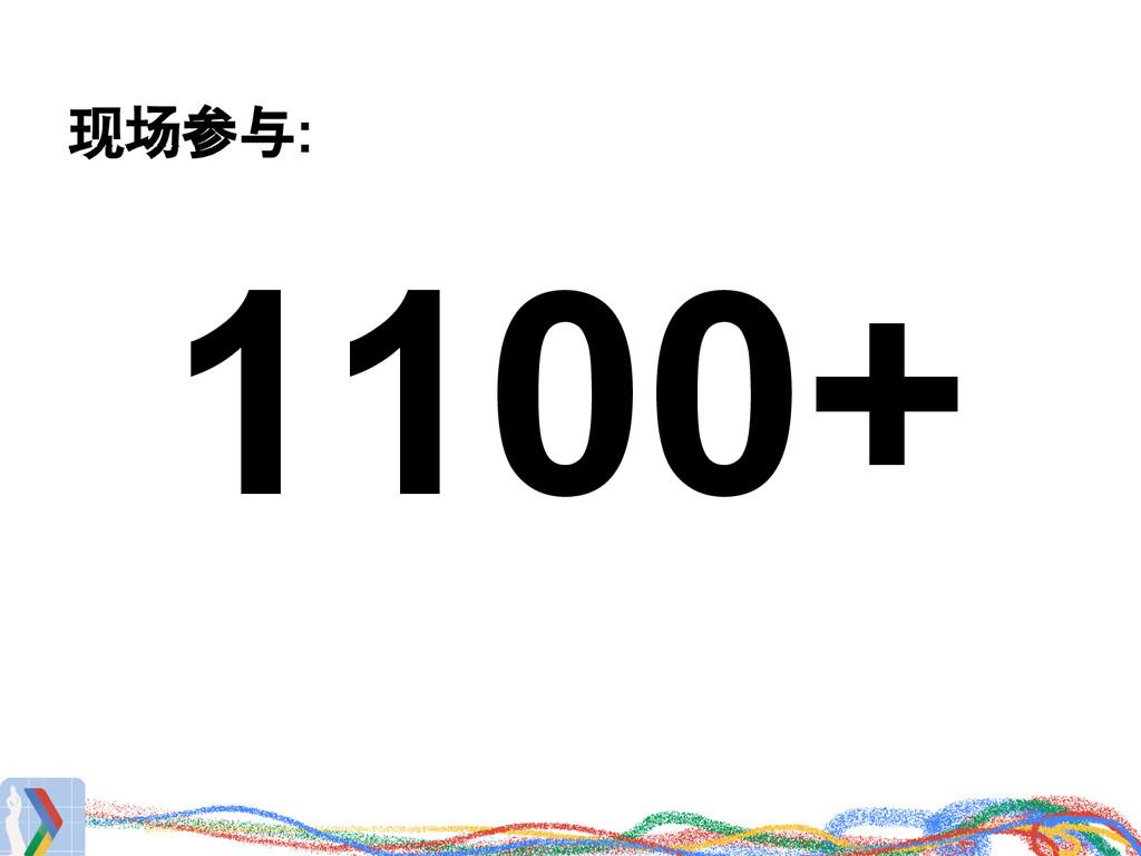 现场参与: 1100+