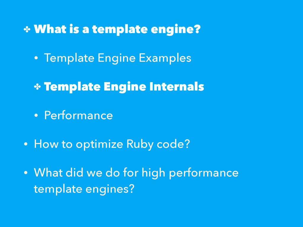 ✤ What is a template engine? • Template Engine ...