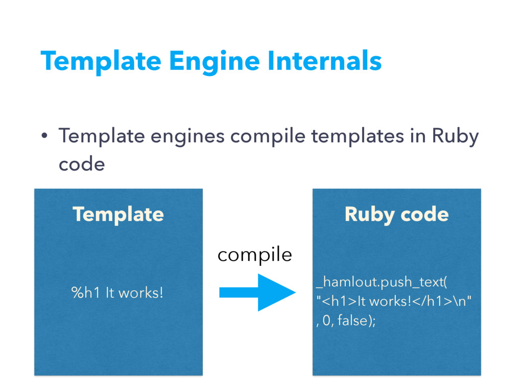 Template Engine Internals • Template engines co...