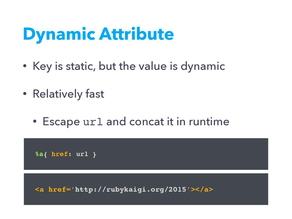 Dynamic Attribute %a{ href: url } • Key is stat...