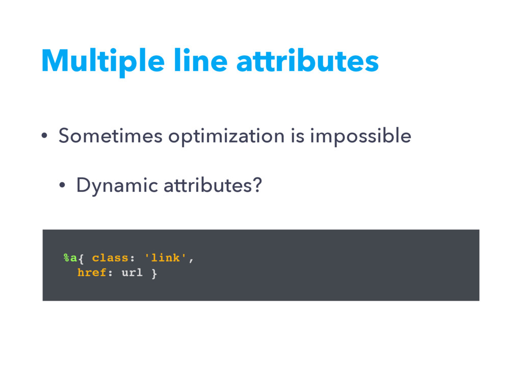 • Sometimes optimization is impossible • Dynami...