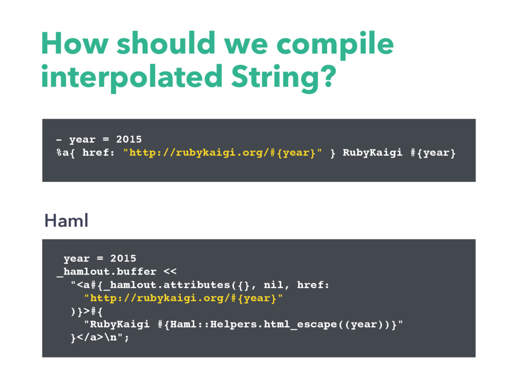 How should we compile interpolated String? year...