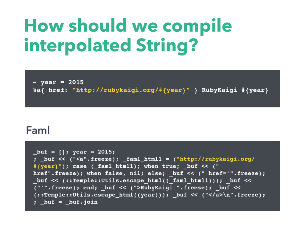 How should we compile interpolated String? _buf...