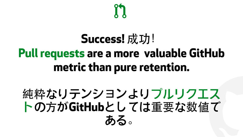 ! Success! 成功! Pull requests are a more valuabl...