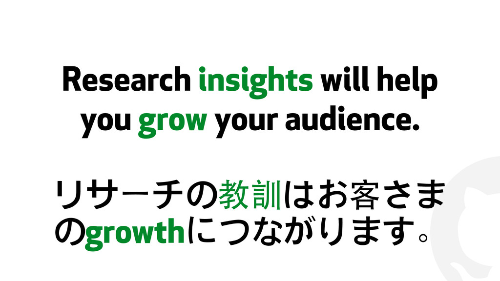 ! Research insights will help you grow your aud...
