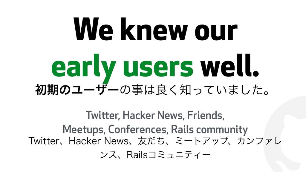 ! We knew our early users well. ॳظͷϢʔβʔͷྑͬͯ͘...