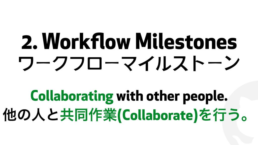 ! 2. Workflow Milestones ワークフローマイルストーン Collabora...