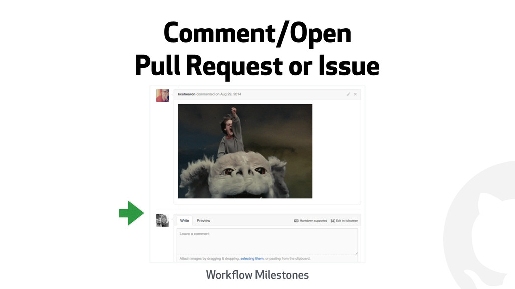 ! Comment/Open Pull Request or Issue Workflow Mi...