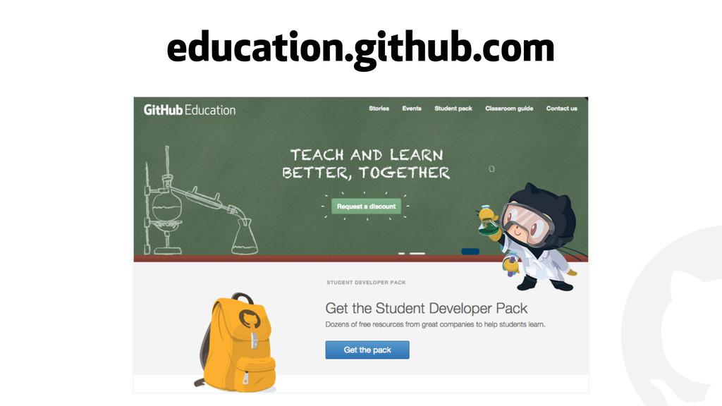 ! education.github.com