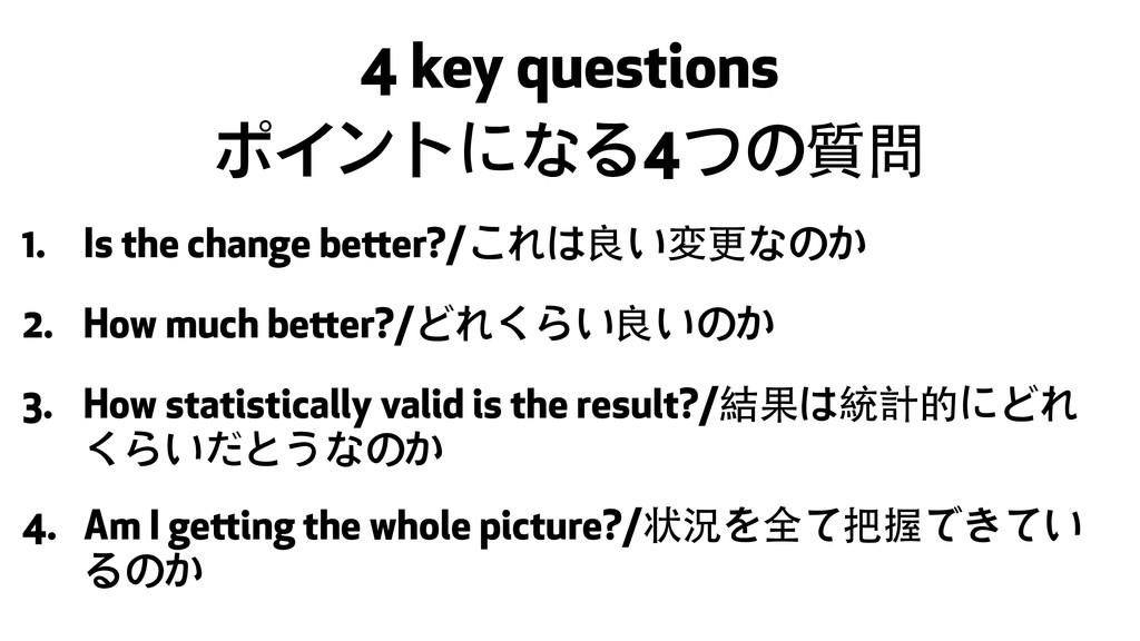 4 key questions ポイントになる4つの質問 1. Is the change b...