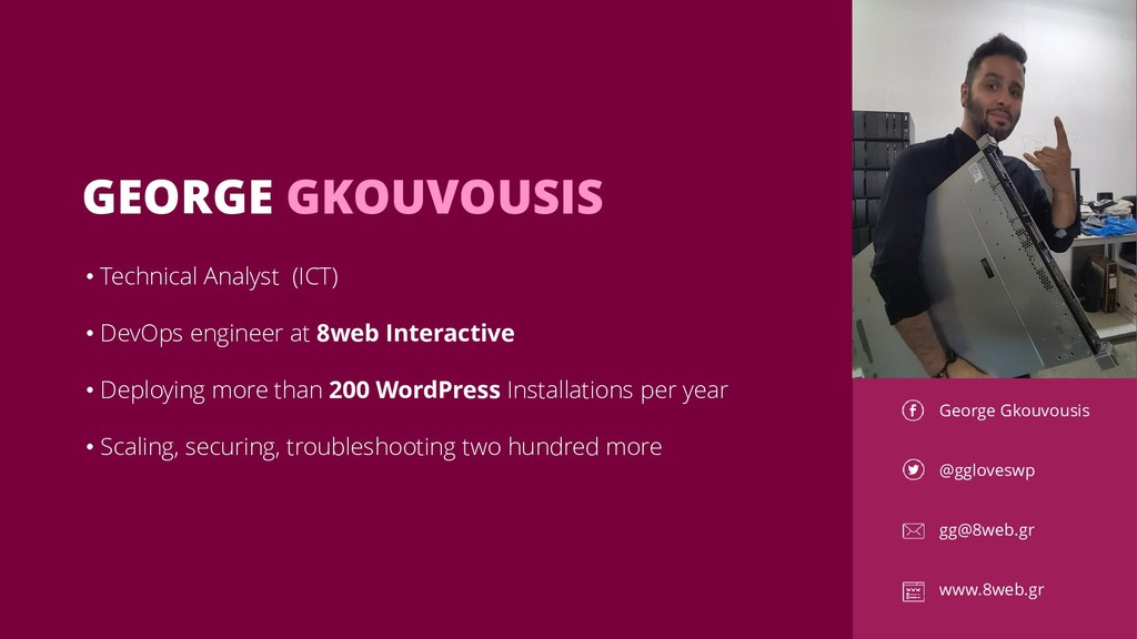 GEORGE GKOUVOUSIS George Gkouvousis @ggloveswp ...