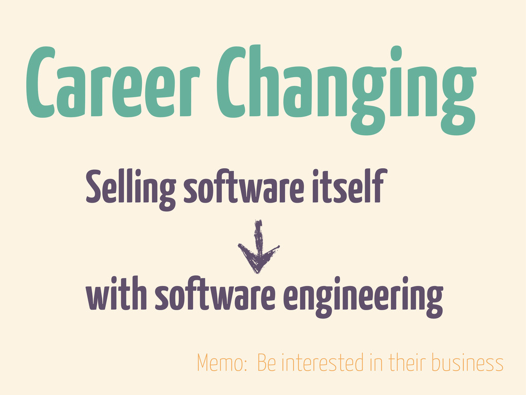 Selling software itself with software engineeri...