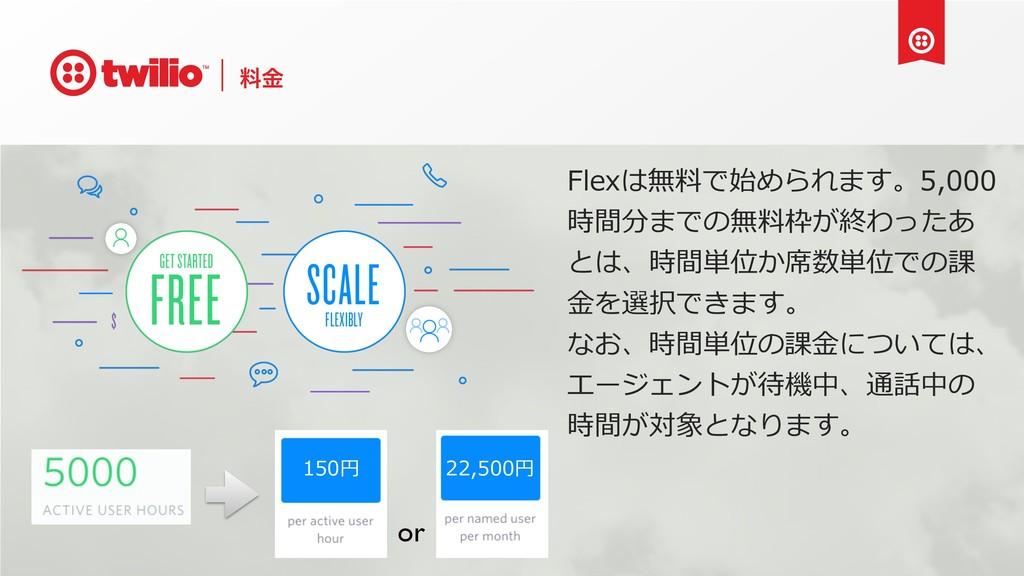 ྉۚ Flexは無料で始められます。5,000 時間分までの無料枠が終わったあ とは、時間単位...