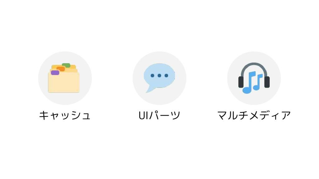 キャッシュ UIパーツ マルチメディア