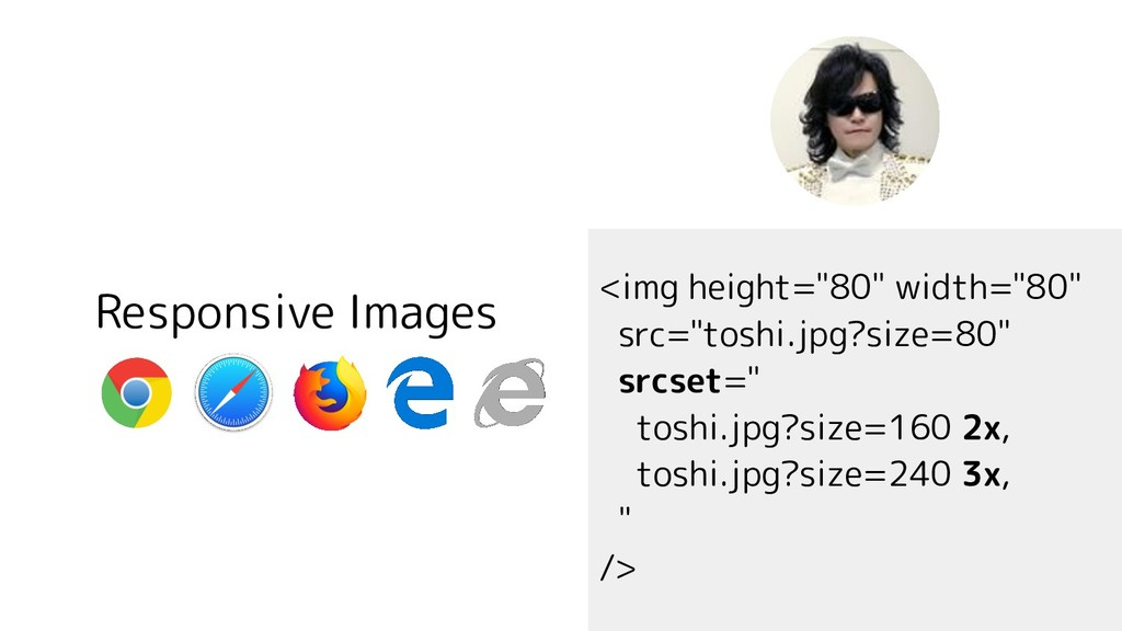 """Responsive Images <img height=""""80"""" width=""""80"""" s..."""