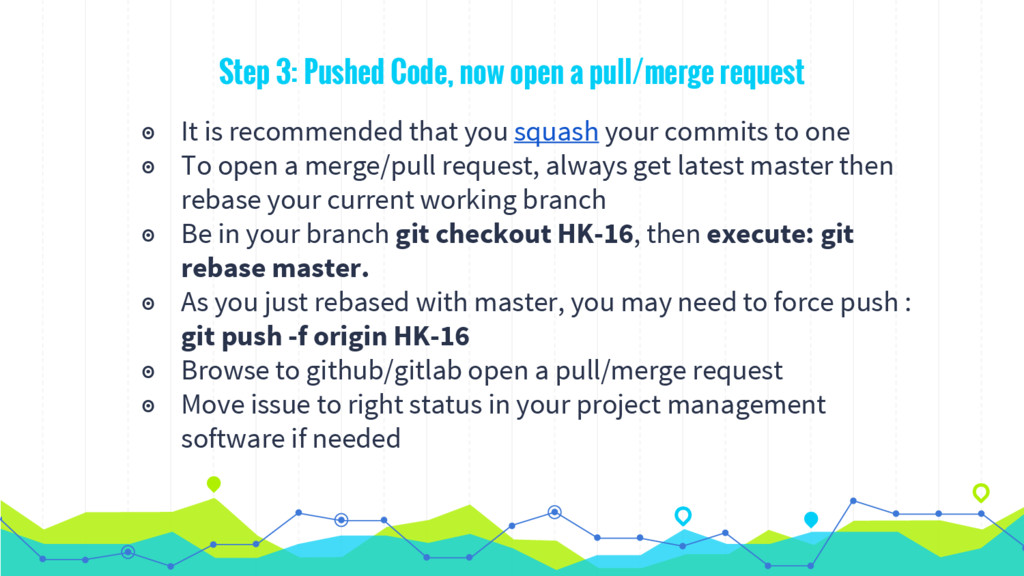 Step 3: Pushed Code, now open a pull/merge requ...