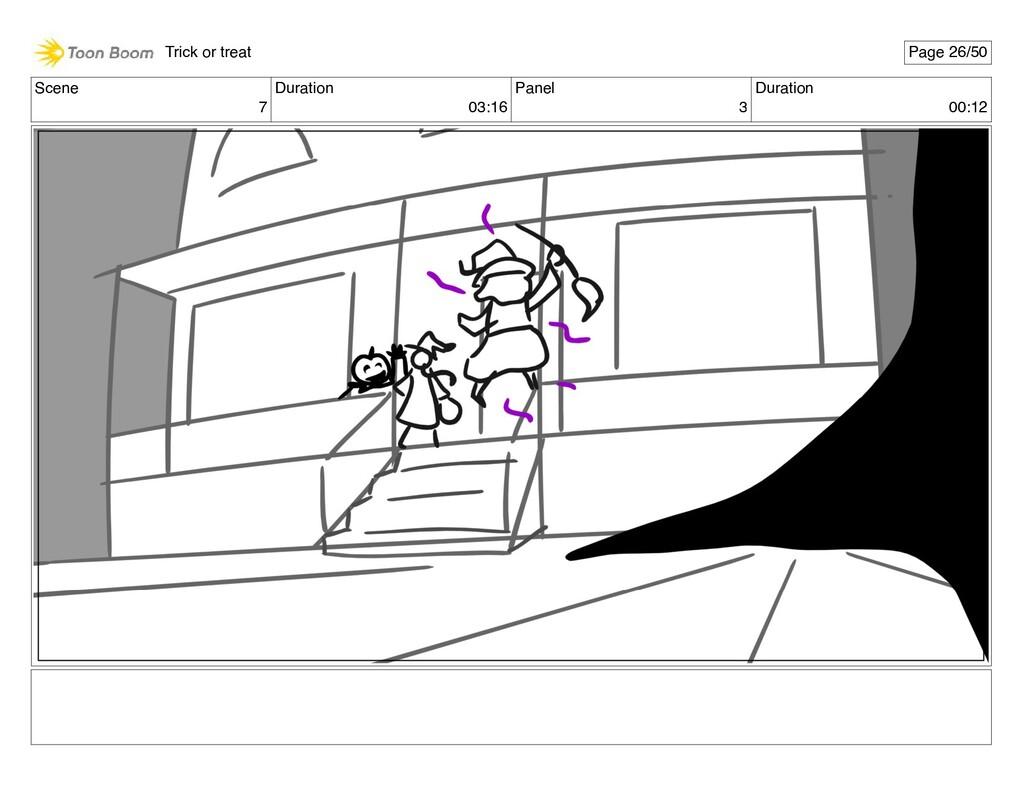 Scene 7 Duration 03:16 Panel 3 Duration 00:12 T...
