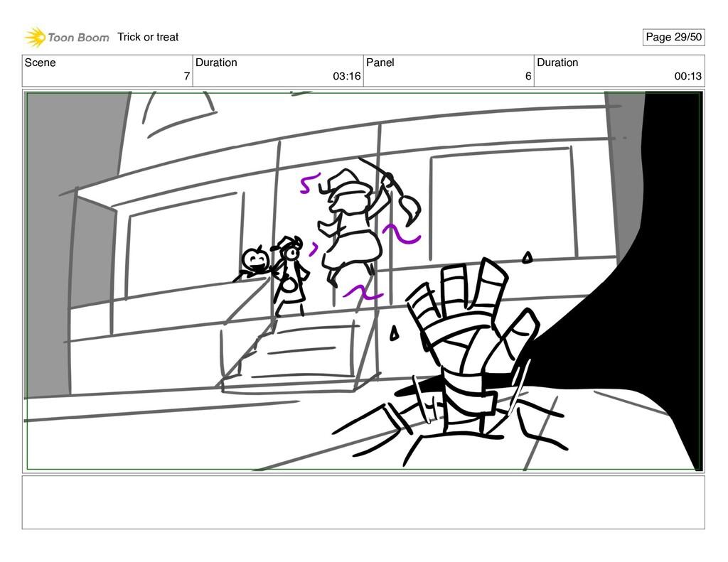 Scene 7 Duration 03:16 Panel 6 Duration 00:13 T...