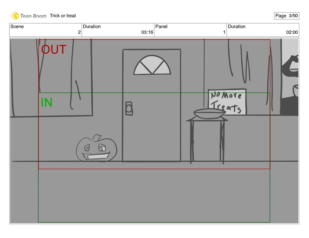 Scene 2 Duration 03:16 Panel 1 Duration 02:00 T...