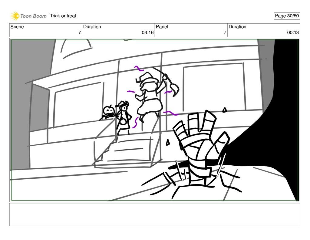 Scene 7 Duration 03:16 Panel 7 Duration 00:13 T...