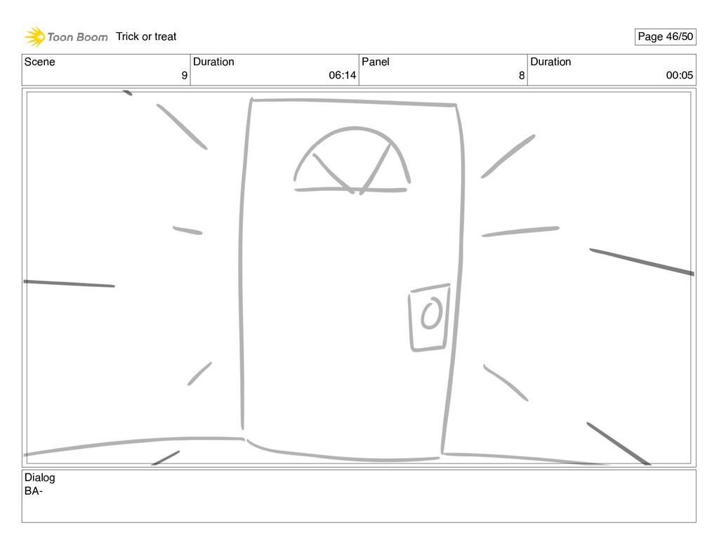 Scene 9 Duration 06:14 Panel 8 Duration 00:05 D...