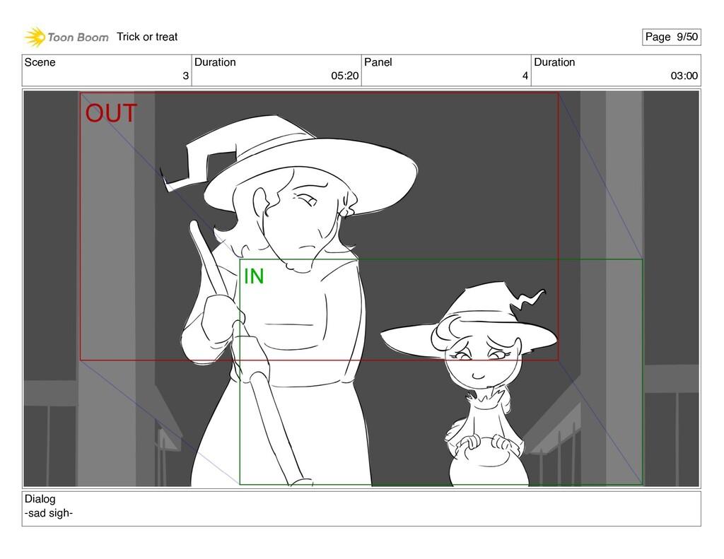 Scene 3 Duration 05:20 Panel 4 Duration 03:00 D...