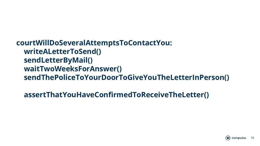 19 courtWillDoSeveralAttemptsToContactYou: writ...