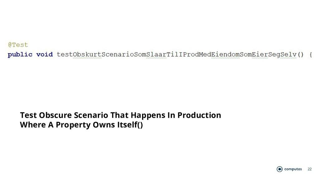 22 Test Obscure Scenario That Happens In Produc...