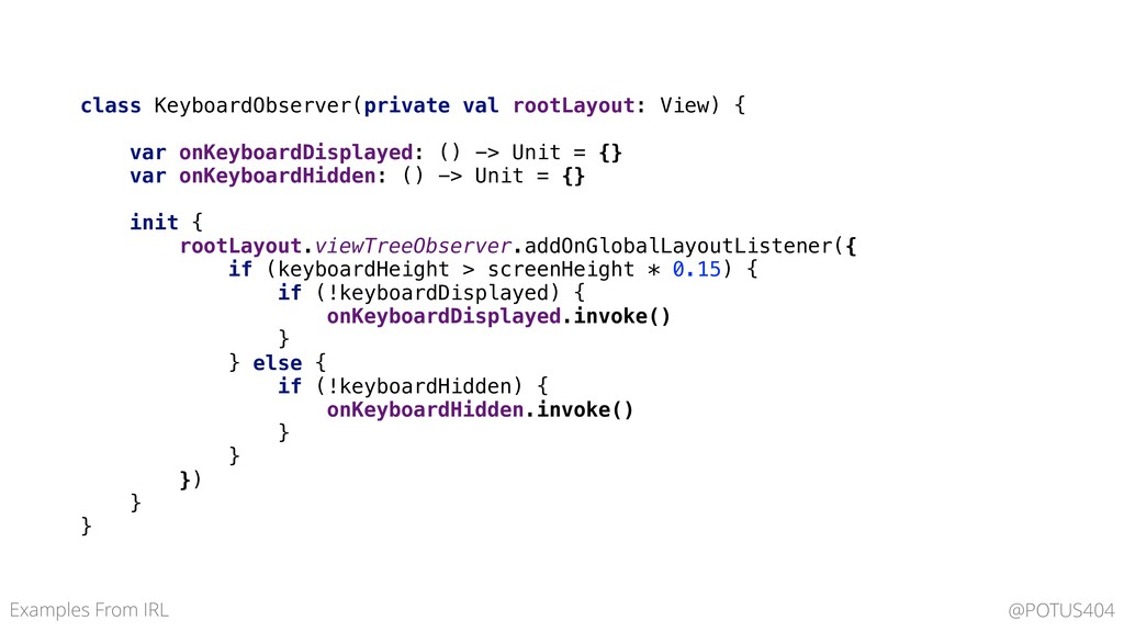 class KeyboardObserver(private val rootLayout: ...