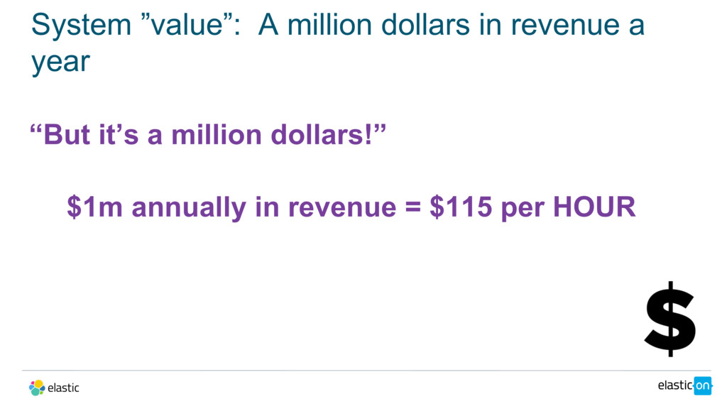 """System """"value"""": A million dollars in revenue a ..."""